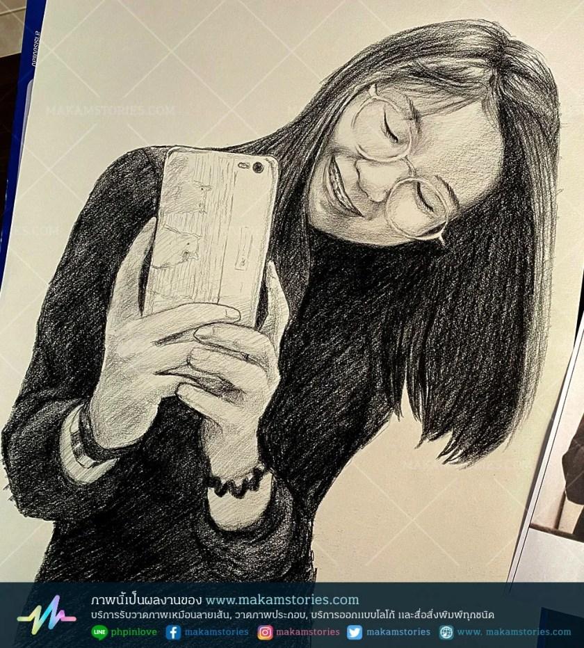 วาดภาพเหมือนลายเส้นดินสอ ภาพวาดดรออิ้งบุคคล Drawing Portrait ภาพวาดลายเส้น