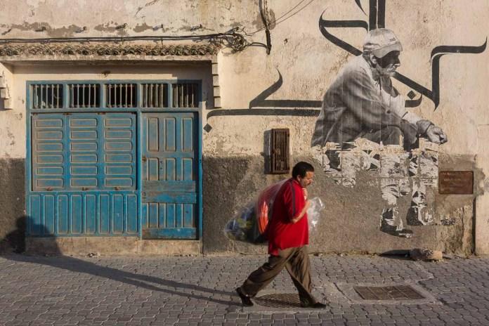 Wandmalerei im ehemaligen Judenviertel