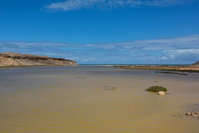 Traumhafte Sandstrände in einem Flussdelta