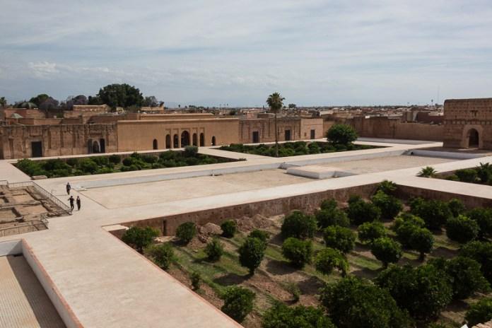 Palast El Badi - von oben ...