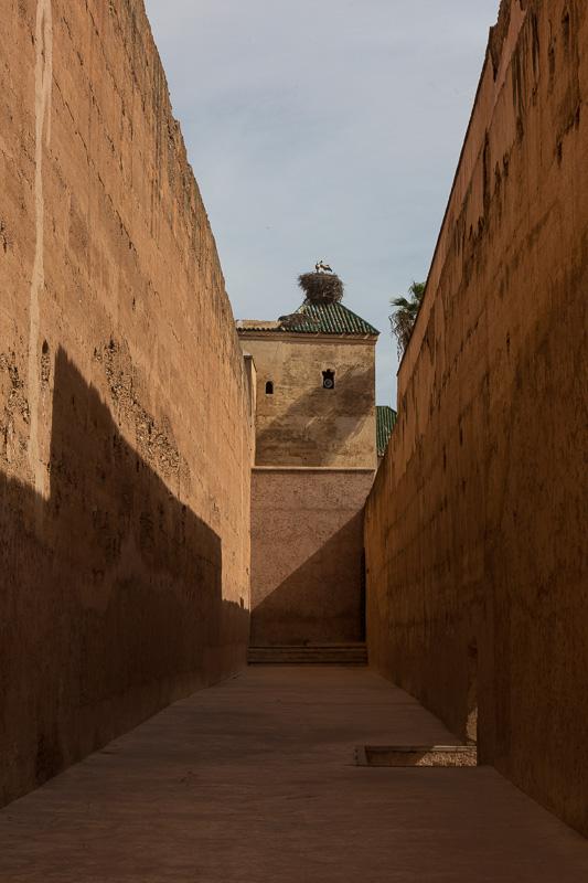 Im Palast - eine leere Gasse - Wohltat für das Auge nach dem vielen Gewusel