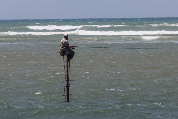 Diese Art zu angeln haben wir nur in El Jadida gesehen