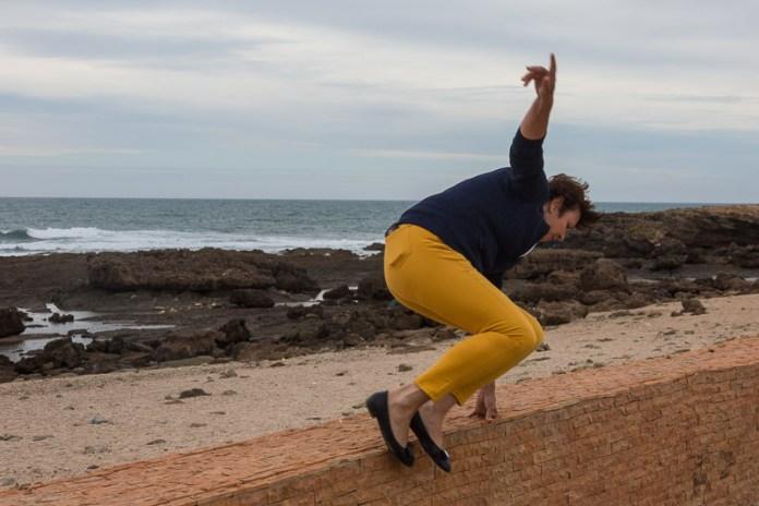 Über die Mauer und auf zum Strandspaziergang