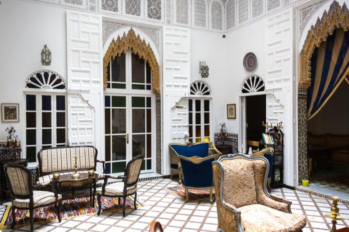 Die Eingangshalle im Riad