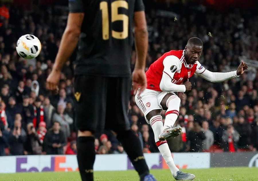 Nicolas Pepe Arsenal 3-2 Vitória S.C.