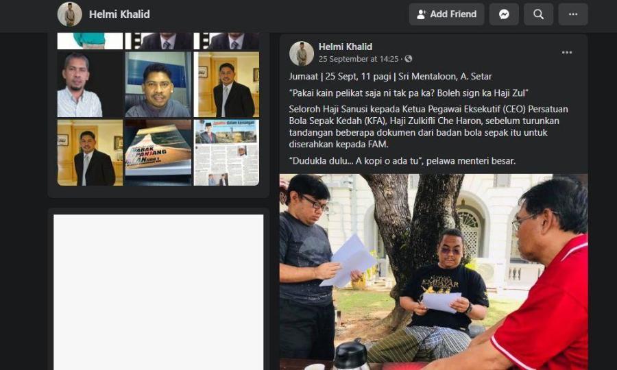 Pesawat MAS MALAYSIA 35 Pemilik Darul Aman FC Masih Orang Politik?