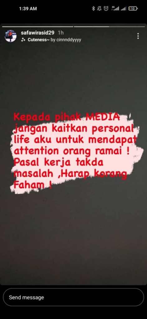 """Pesawat MAS MALAYSIA 6 """"Saya Nak Kerja""""-Safawi Beri Amaran Jangan Ganggu Kehidupan Peribadinya"""