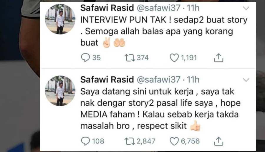 """Pesawat MAS MALAYSIA 9 """"Saya Nak Kerja""""-Safawi Beri Amaran Jangan Ganggu Kehidupan Peribadinya"""
