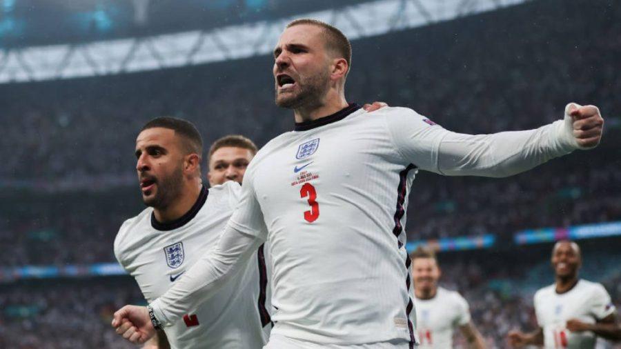 Luke Shawl England vs Italy