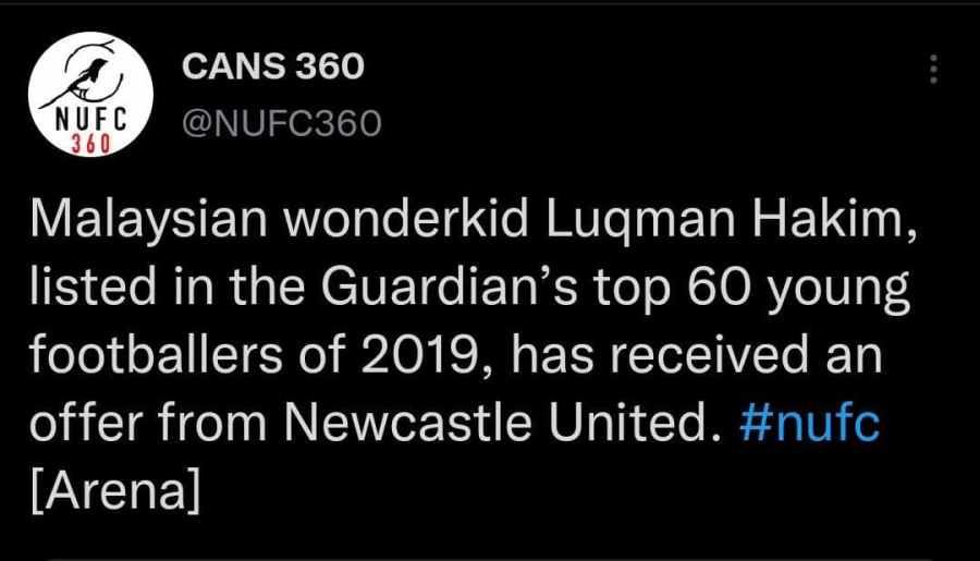 luqman 3 Luqman Hakim Dikaitkan Ke Newcastle United