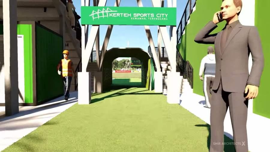 stadium kerteh fc 6 Konsep Rekabentuk Stadium Kerteh FC Diperkenalkan
