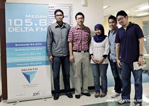 Makanmana.net goes to Delta FM 4