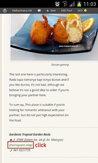 Cari tempat makan dengan Foursquare dan Google Maps 1