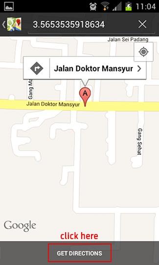 Cari tempat makan dengan Foursquare dan Google Maps 5