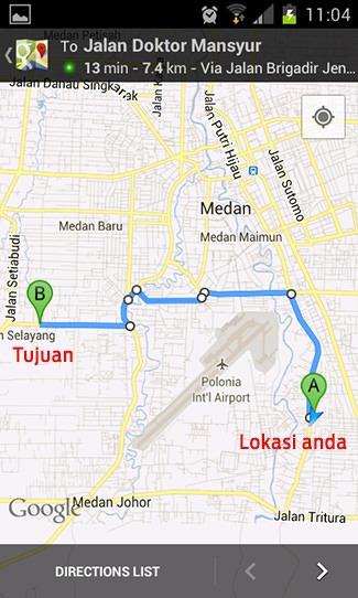 Cari tempat makan dengan Foursquare dan Google Maps 7
