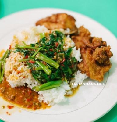 Nasi ayam kangkung RM Umi Seafood 1