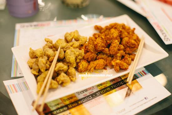 Popcorn chicken spicy and original