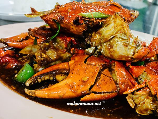 Kepiting lada hitam Sondoro Fish Market & Seafood Restaurant