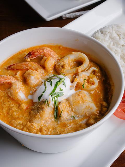 khao hor mok talay (Nasi kari seafood Basil ala Somboon) (42rb)