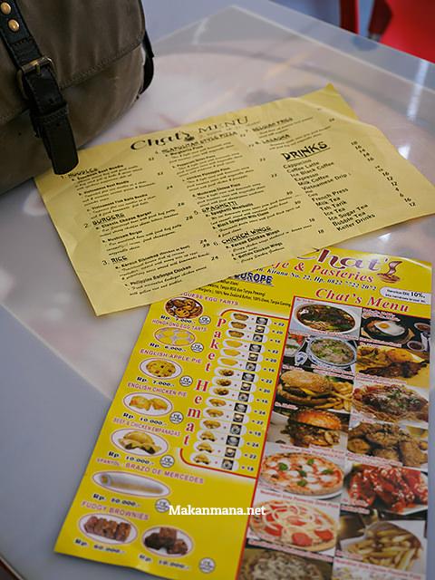Chinchai-ly designed menu