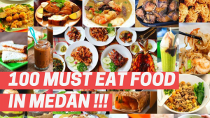 100 must eat food in Medan cover