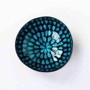Kokosnussschale Blau, Perlmutt