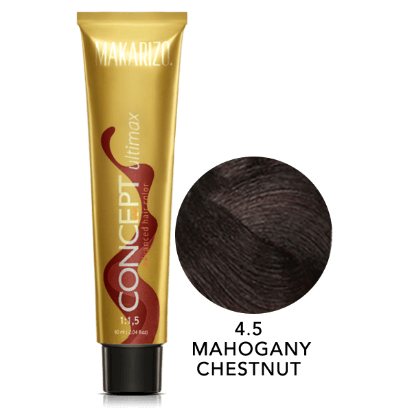 Concept Ultimax Advanced Hair Color 4.5 Mahogany Chestnut Tube 60 gr