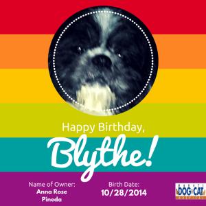 Happy Birthday, Blythe!