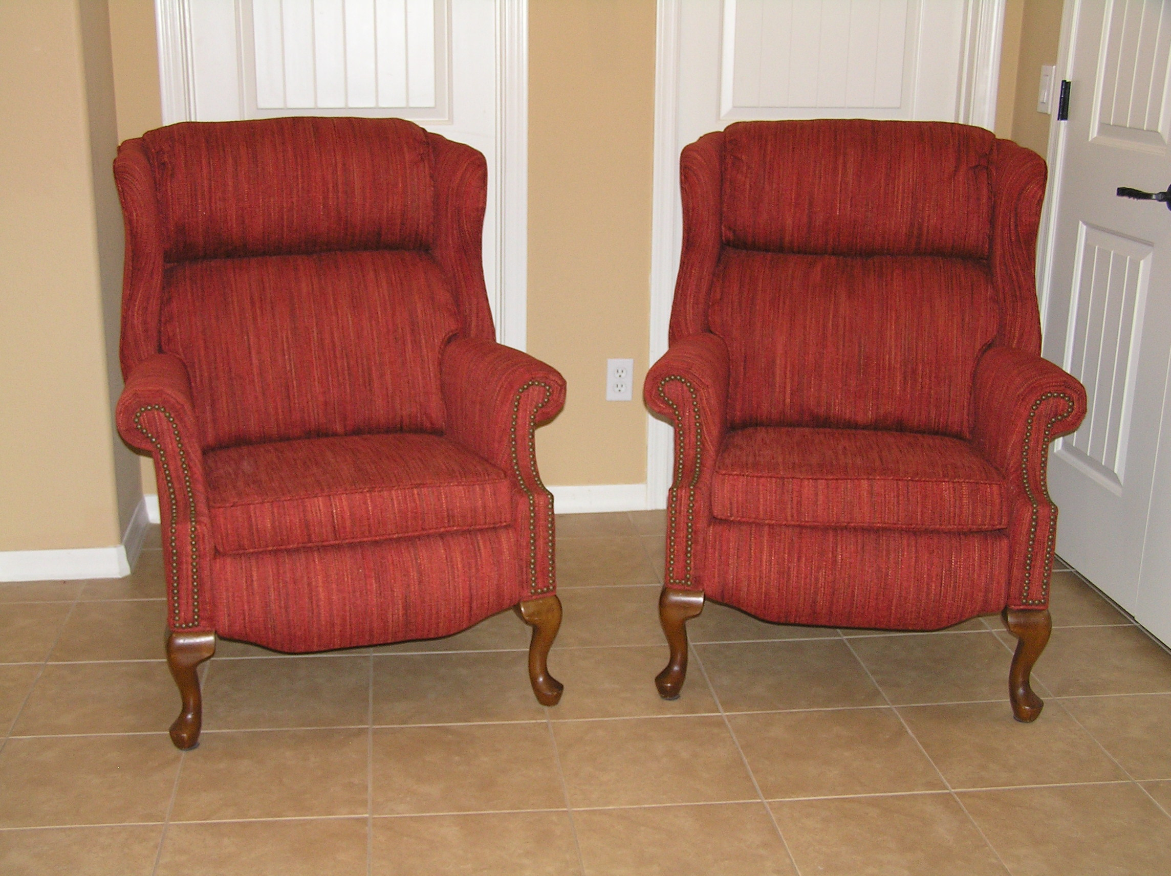 Used Wingback Chairs Wingback Recliners Mak Designs