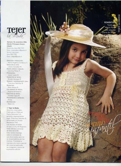 Crochet Dress For Little Girls On The Summer Make