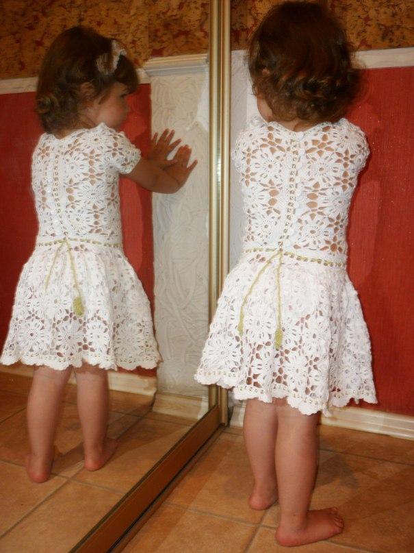 Crochet Snown Dress For Little Angle Make Handmade