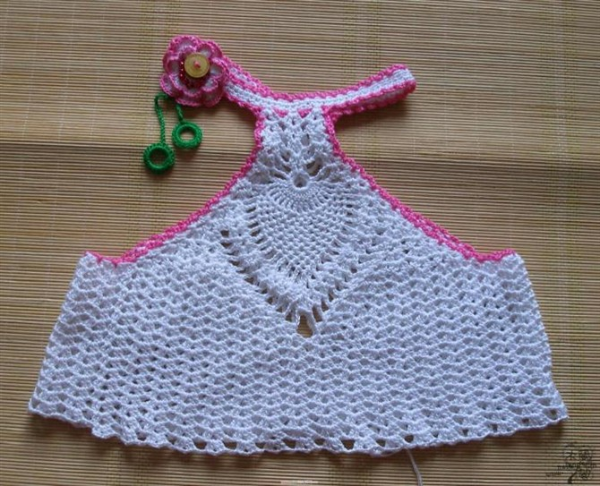 Crochet Baby Tank Top Dress With Pineapple Stitch Make