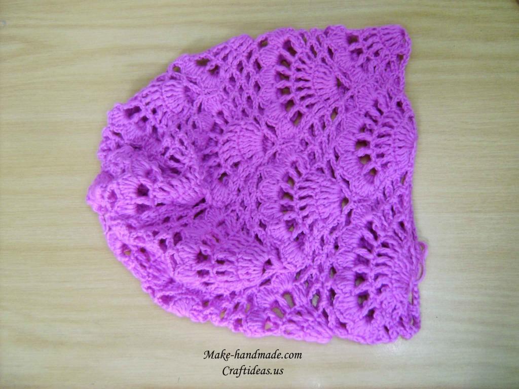 hight resolution of crochet wave hat