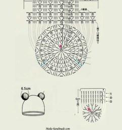 crochet animal hat diagram [ 797 x 1024 Pixel ]