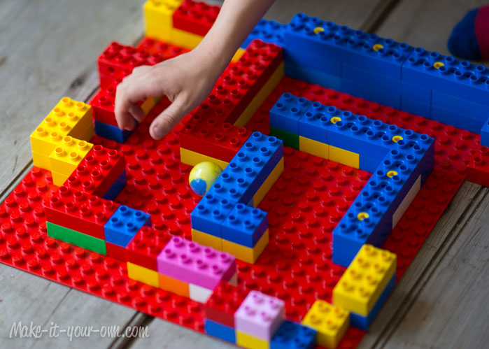 187 Rainy Day Fun Reader Idea Building Block Marble Maze