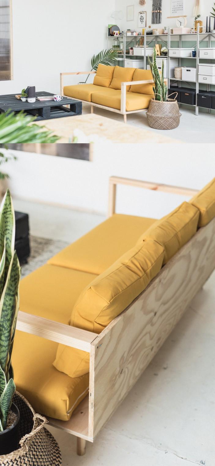 Corner Sofa mula sa Plywood.