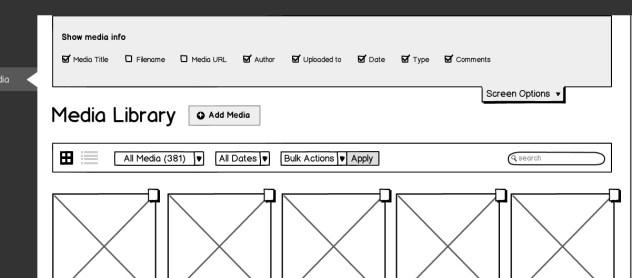 media Grid-screen options