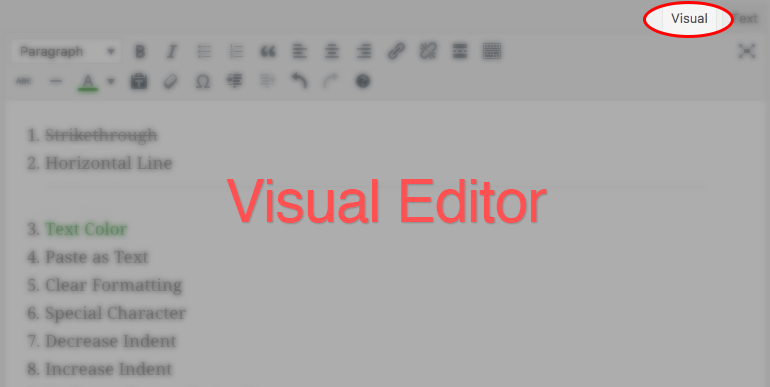 Using the Visual Editor