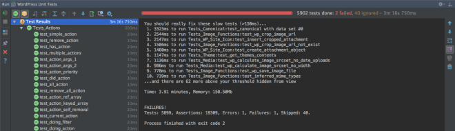 PhpStorm PHPUnit Test Results
