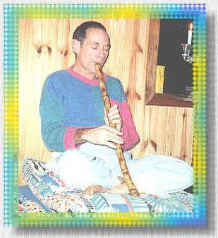 Marek Gold playing the Shakuhachi flute