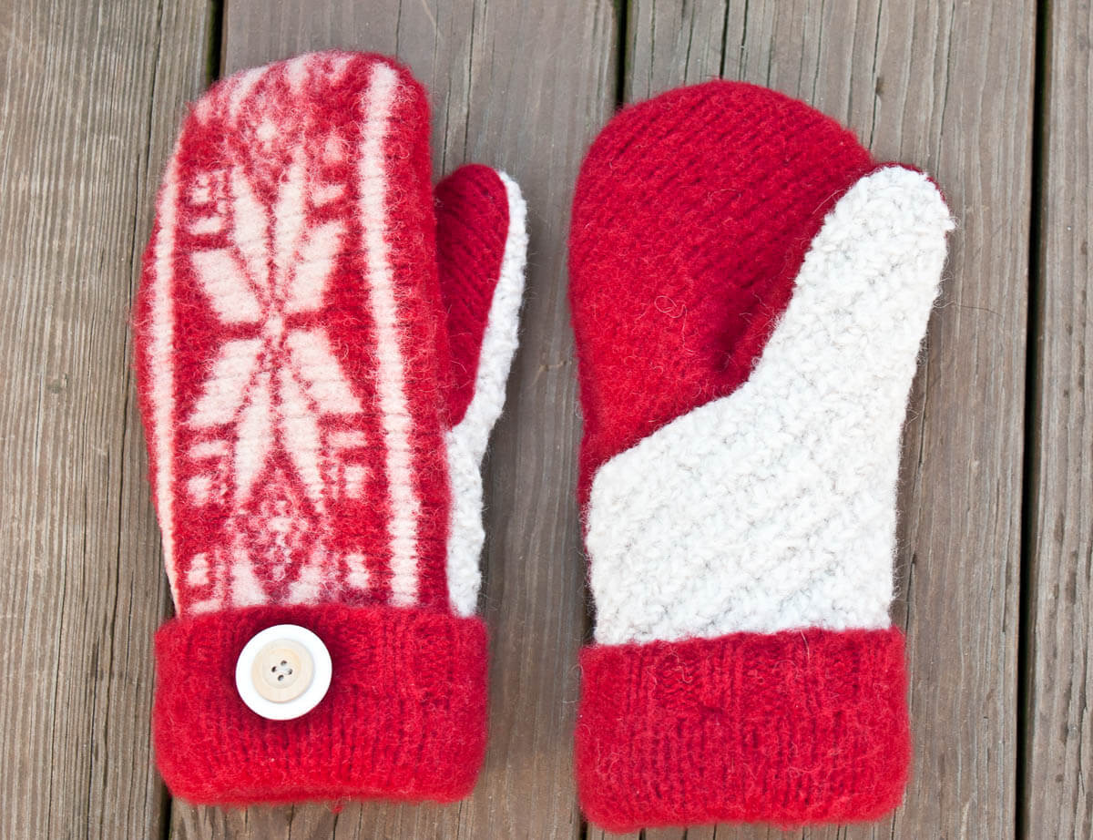 Guest Tutorial Felted Sweater Mittens With Printable
