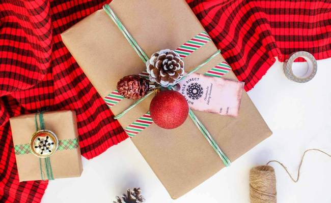 Easy Dollar Store Christmas Gift Wrap Ideas Free Gift Tags