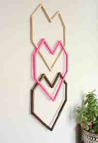 Geometric Heart DIY Wall Art - With Popsicle Sticks!