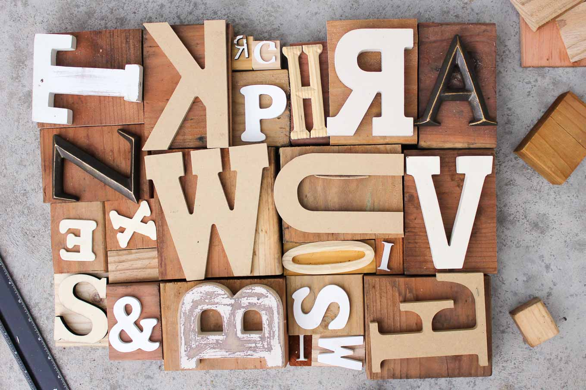 DIY Art Idea With Faux Letterpress Print Blocks Make
