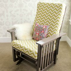 How To Recover Glider Rocking Chair Cushions Design By Le Corbusier A Photo Tutorial Makeover