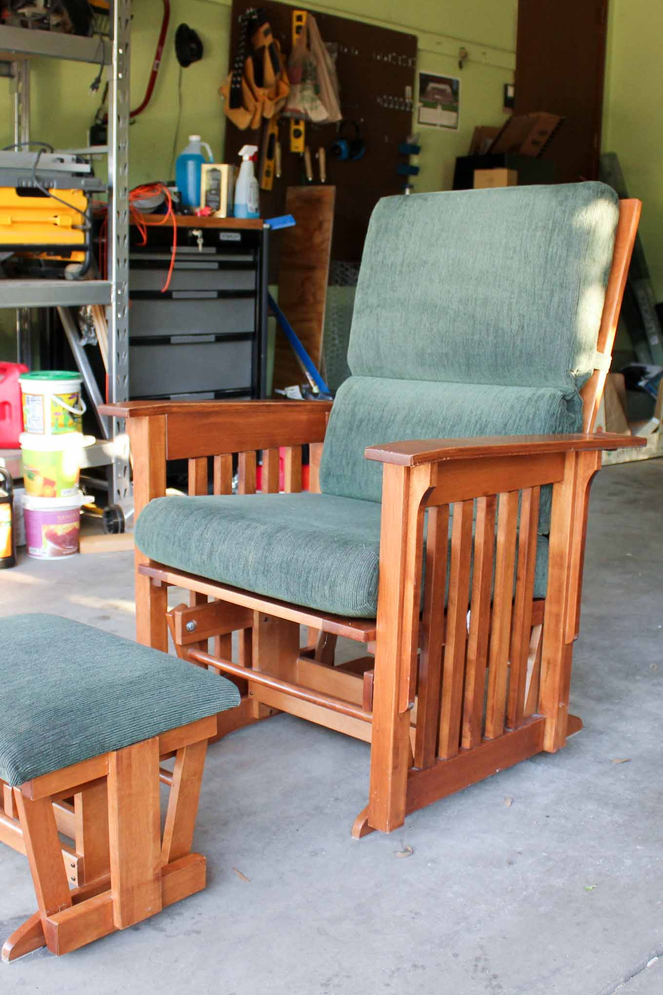 Cost Of Reupholstering A Chair How To Recover A Glider Rocking Chair Photo Tutorial