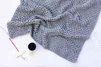 Modern Crochet Hooded Baby Blanket - free pattern for charity