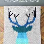 Modern Corner To Corner Crochet Deer Afghan Free Pattern