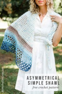 Rising Tide Asymmetrical Crochet Triangle Shawl - Free ...