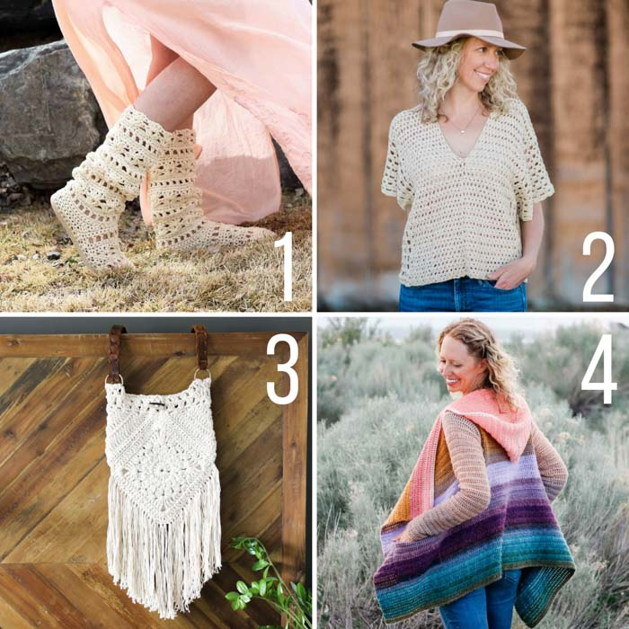 d78fb18099f1bb Free boho crochet patterns including crochet hippie boots